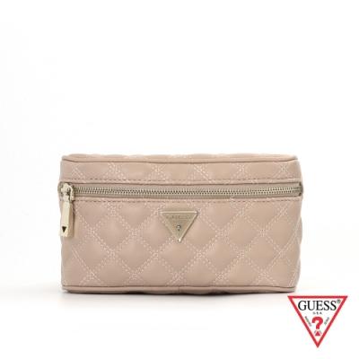 GUESS-女包-時尚氣質菱格紋鍊條腰包-粉 原價2490