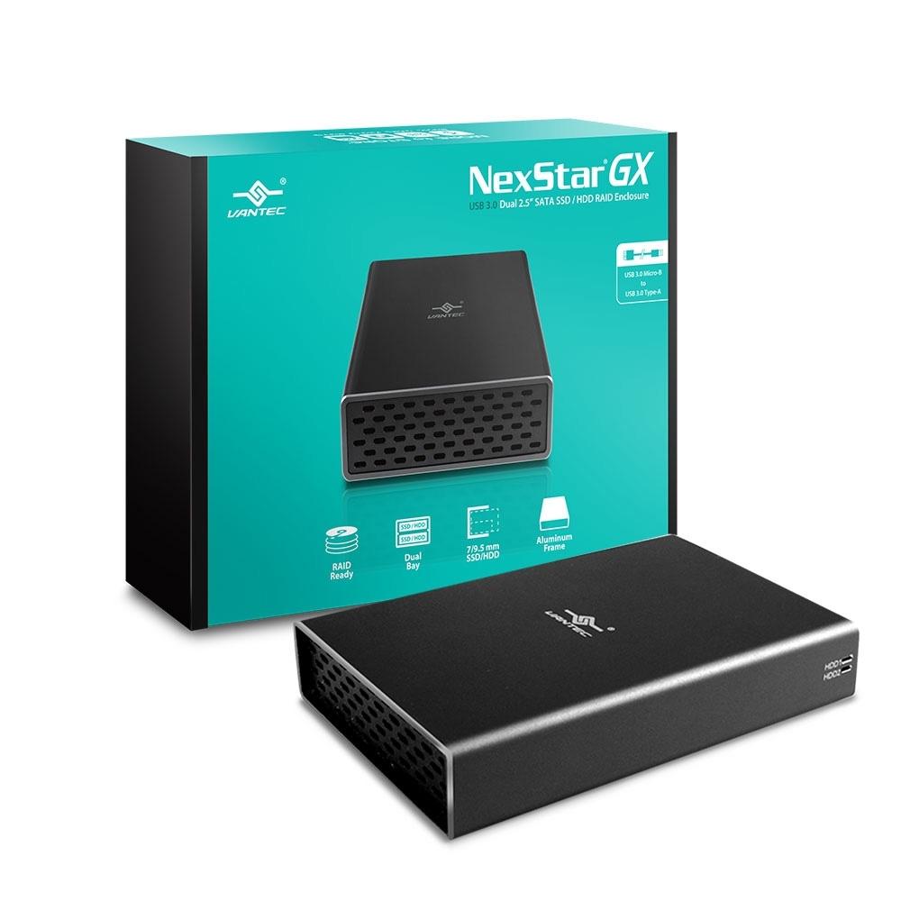 凡達克NexStarGX USB 3.0雙槽2.5吋硬碟 RAID外接盒(NST-272S3-BK)