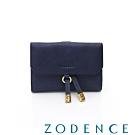 ZODENCE 義大利植鞣革系列時尚中夾 藍