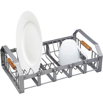 《KitchenCraft》3格餐具瀝水收納架《KitchenCraft》工業風碗盤瀝水架