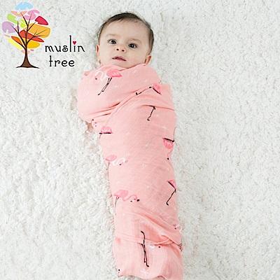 荷蘭Muslin tree嬰兒多功能竹纖維雙層紗布包巾-2條入