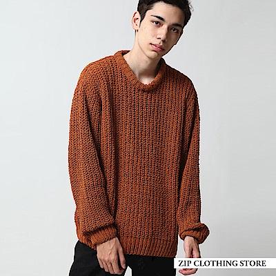 MOLE毛線的圓領針織衫(5色) ZIP日本男裝
