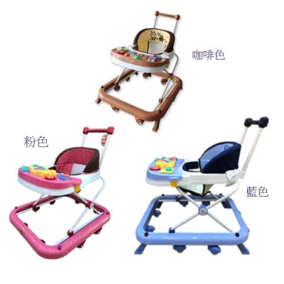 TAI TONG 可推式音樂幼兒學步車(藍/粉/咖啡)