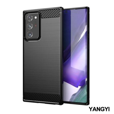 揚邑 SAMSUNG Galaxy Note 20 Ultra 碳纖維拉絲紋軟殼散熱防震抗摔手機殼