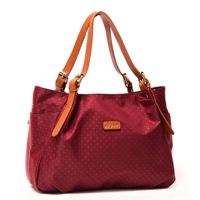 ANGIMI SHOP 肩背斜背包悠閒點點子母袋 紅色