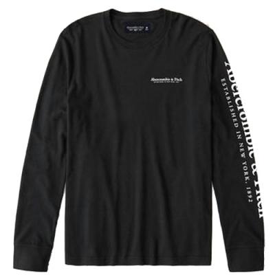 AF a&f Abercrombie & Fitch 男 長袖T恤 黑色 1479