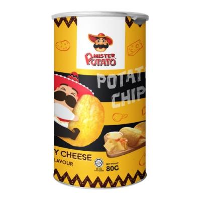 MisterPotato 薯片先生胖胖罐洋芋片-蜂蜜起司味(80g)