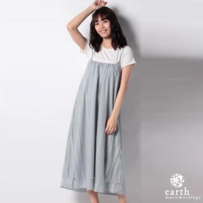 earth music 2WAY兩穿式蕾絲拼接吊帶洋裝