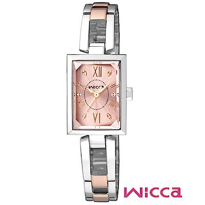 CITIZEN wicca法式優雅甜心腕錶/玫瑰半金/BE1-038-91