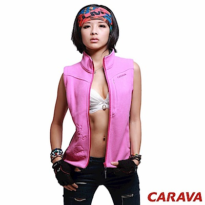 CARAVA《女款刷毛背心》(玫紫)