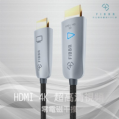 菲伯爾FIBBR高畫質 Ultra 光纖HDMI 1.4連接線 -10M