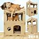 貓本屋 豪宅貓生 升級版豪華三層洋房 貓抓板寵物貓屋(原色) product thumbnail 1
