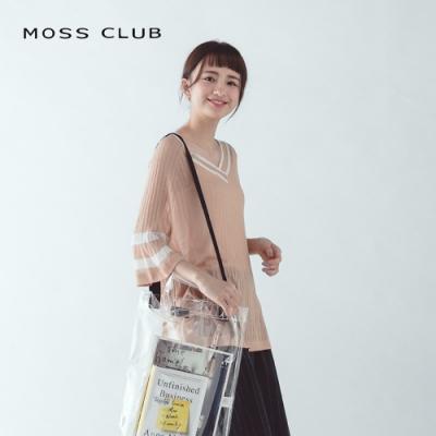 【MOSS CLUB】學院風輕薄五分袖-針織衫(三色)