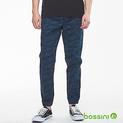 bossini男裝-輕鬆束口長褲03海軍藍