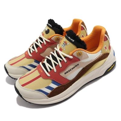 Skechers 休閒鞋 GLOBAL JOGGER 海賊王聯名 女鞋 One Piece 航海王 漁人島 騙人布 黃棕 896035-YLMT