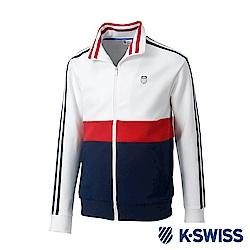 K-SWISS Tracksuit Zip Up運動外套-男-白