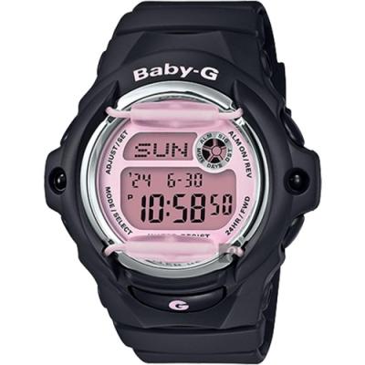 CASIO 卡西歐 Baby-G 甜美手錶-粉x黑(BG-169M-1)