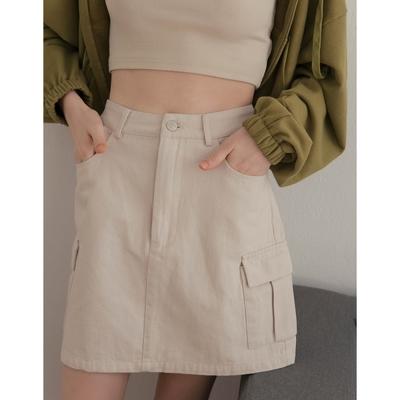 Shester55-斜紋貼口袋短裙(四色)-女【C2SH005】