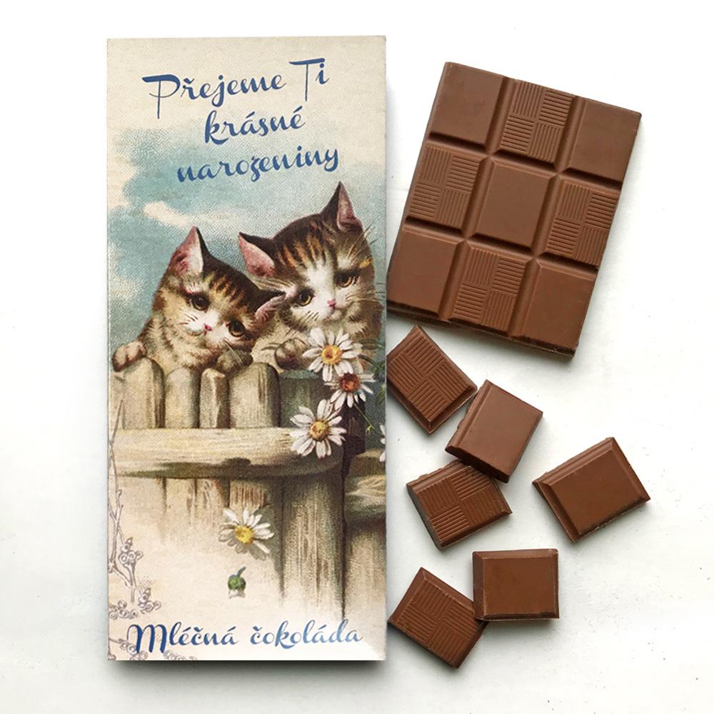捷克 波西米亞禮讚 牛奶巧克力-可愛猫咪(100g)