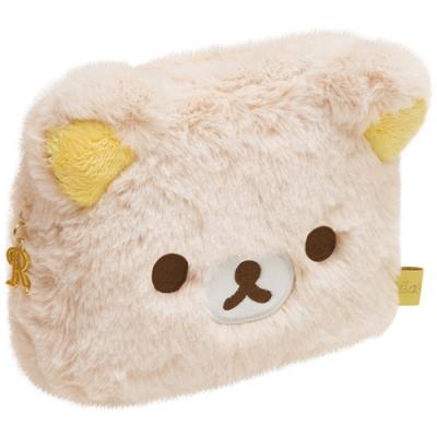 拉拉熊果子露系列長毛絨收納包。懶熊San-X