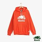 男裝Roots 經典庫柏海狸刷毛連帽上衣-橘色