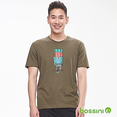 bossini男裝-印花短袖T恤25綠