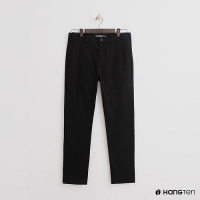 Hang Ten - 男裝 - 簡約純色休閒西裝長褲 - 黑
