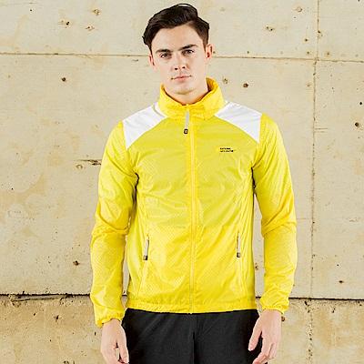 國家地理男款極光防風外套-黃色