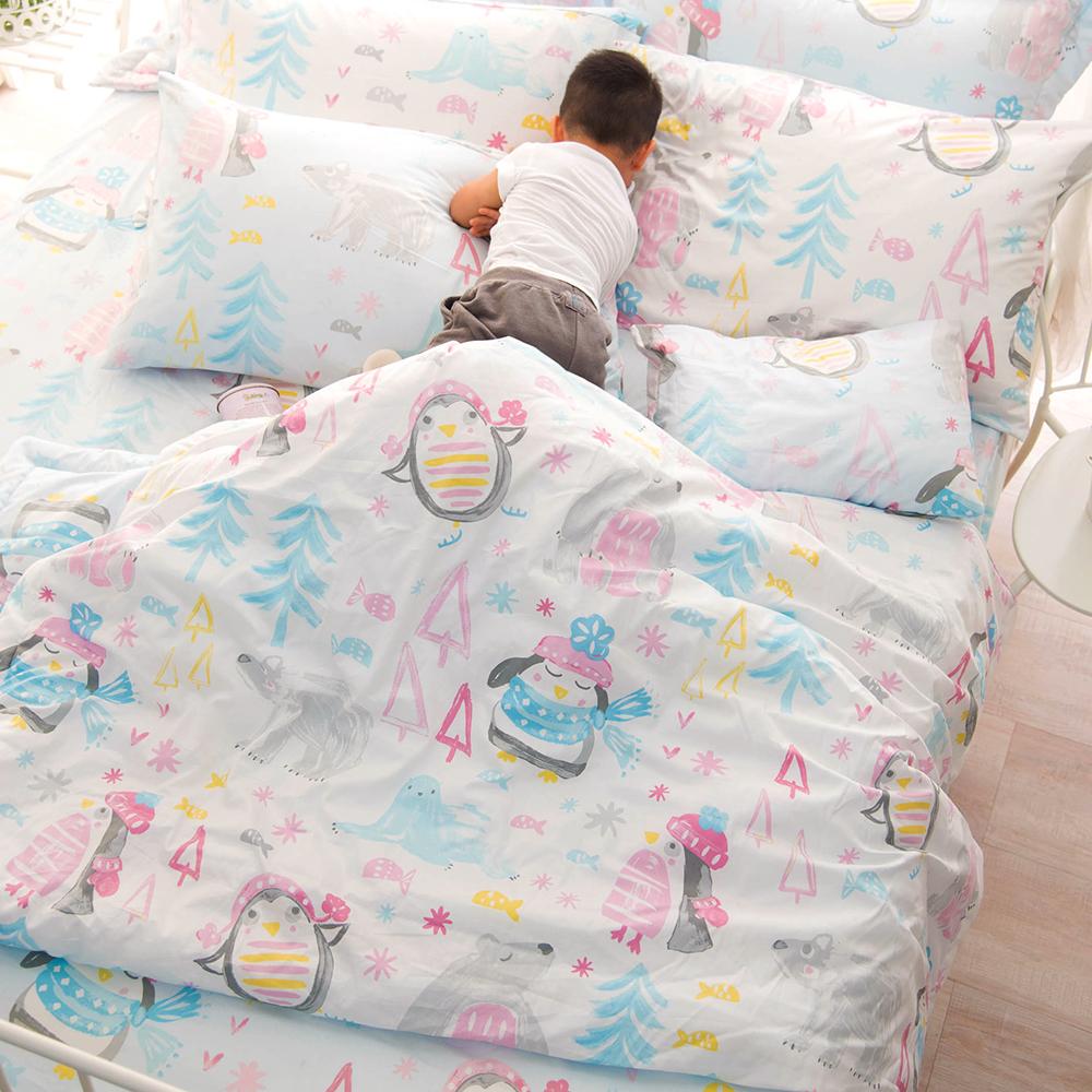 OLIVIA  冬季樂園  標準雙人床包被套四件組 200織精梳純棉
