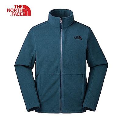 The North Face北面男款深藍色針織外套|CTT7XF0