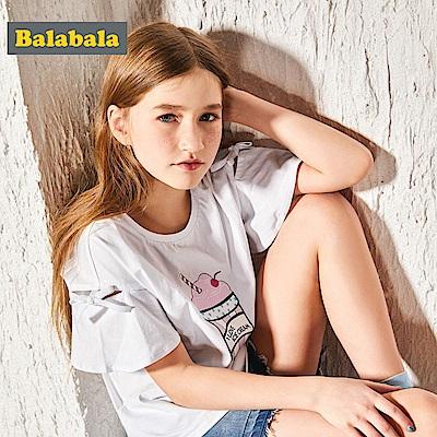 Balabala巴拉巴拉-冰淇淋圖案造型袖上衣-女(5色)