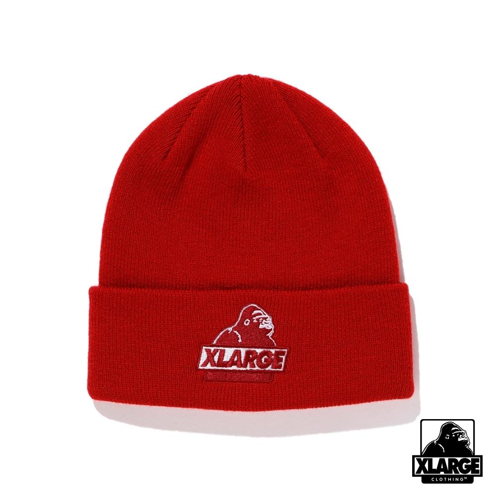 XLARGE SLANTED OG CUFF BEANIE毛帽-紅