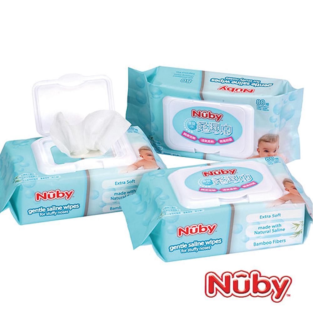 Nuby 食鹽水柔濕巾 80抽(2串6包入)
