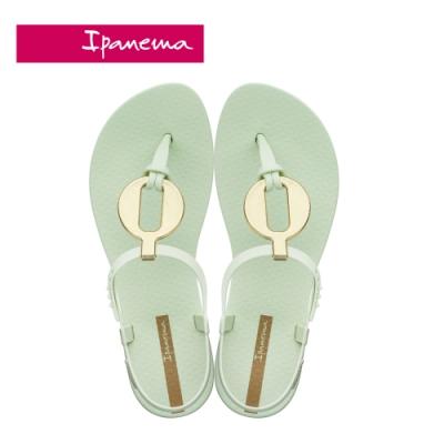 IPANEMA  CLASS  VITTA圓型金屬感造型T字涼鞋-淺綠