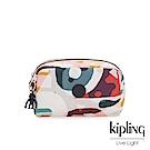 Kipling 音樂派對幾何塗鴉長形化妝包-GLEAM