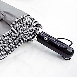 好傘王 自動傘系-英式格紋大大傘(灰色)