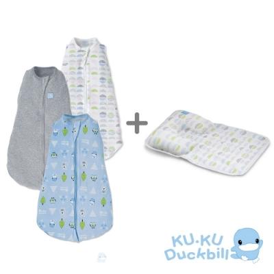 KUKU酷咕鴨 超好眠懶人包巾+多功能護頭枕(多款組合任選)