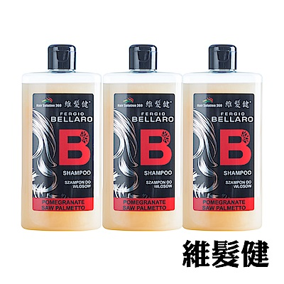 A+維髮健 鋸棕櫚強化配方養髮洗髮精300mlx3入