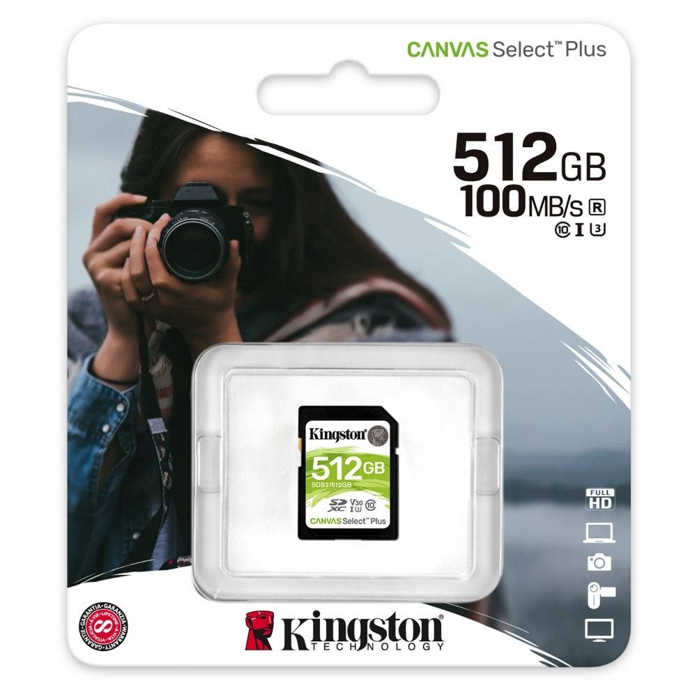 金士頓 KINGSTON SDS2 SDXC 100MB 512G U1 A1 記憶卡