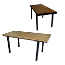 【Incare】原木工業風加厚機能桌(2色任選/160*70*75cm)