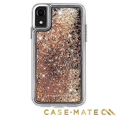 美國 Case-Mate iPhone XR Waterfall 亮粉瀑布防摔殼- 金