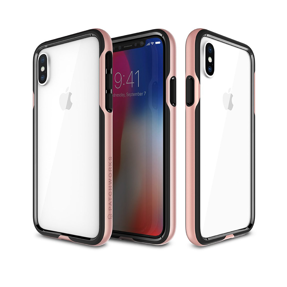 Patchworks iPhone X / XS 超防摔手機保護邊框 - 粉色 product image 1
