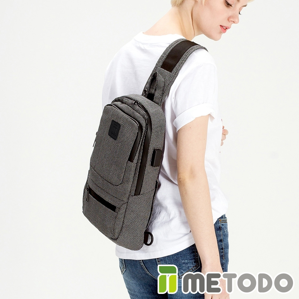 【METODO防盜包】Cross Bag 不怕割單肩斜背包/休閒旅遊包TSL-603黑