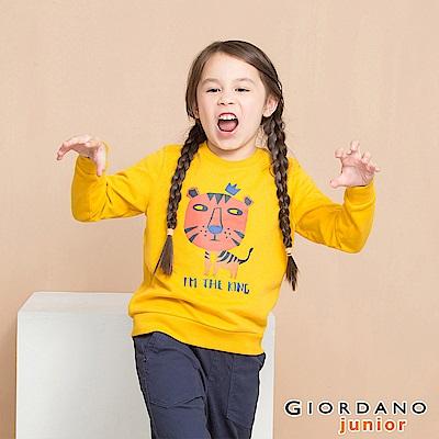 GIORDANO 童裝童趣印花長袖T恤-03 黃色
