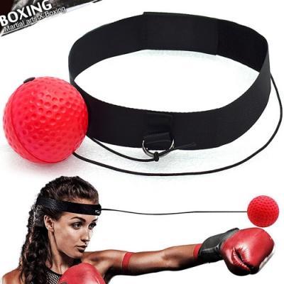 頭戴式拳擊速度球+頭帶  拳擊彈力球訓練球回力球