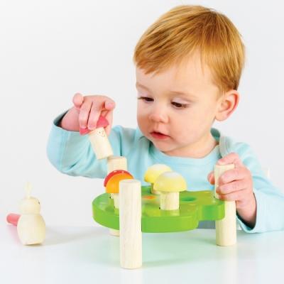 英國 Le Toy Van- Petilou系列啟蒙玩具系列-打地菇啟蒙玩具