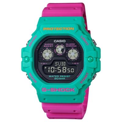 CASIO 卡西歐G-SHOCK 全新多彩系列三眼夜間霓虹電子錶(DW-5900DN-3)