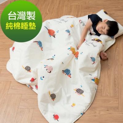 Leafbaby 台灣製幼兒園專用可機洗精梳純棉兒童睡墊三件組 刺蝟班