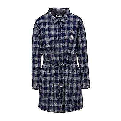 FILA 女款長版襯衫-丈青 5WSS-5710-NV