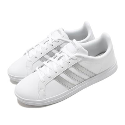 adidas 休閒鞋 Courtpoint 復古 低筒 女鞋 愛迪達 皮革鞋面 基本款 穿搭 白 銀 FW7376